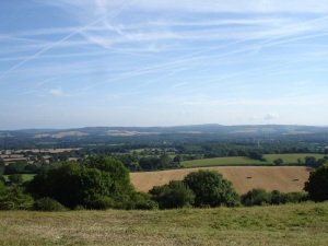 Looking north from Bepton Down